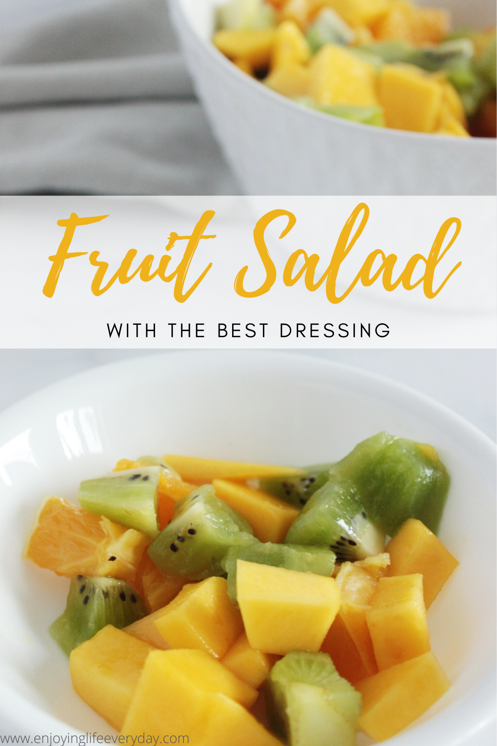 Fruit Salad With Sweetened Condensed Milk Is The Easiest Dessert Recipe In 2020 Super Easy Recipes Fruit Salad Easy Easy Summer Meals