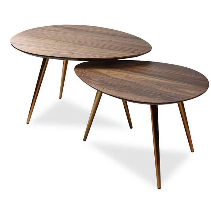 Maddox Mid Century Modern Nesting Coffee Table Set