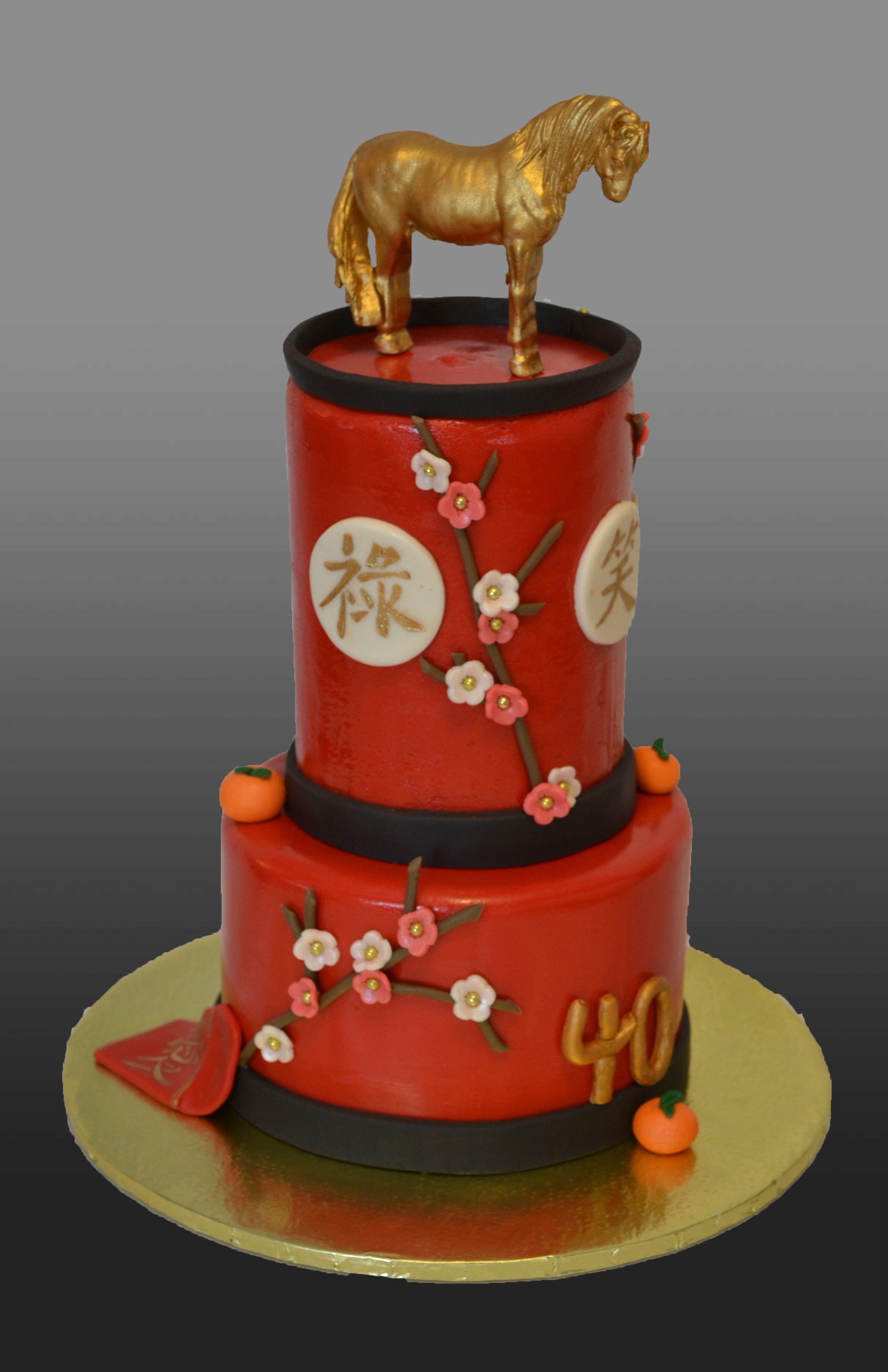 Chinese New Year Themed Cake Th Birthday Cake Cakes Liked By - Birthday cake chinese style