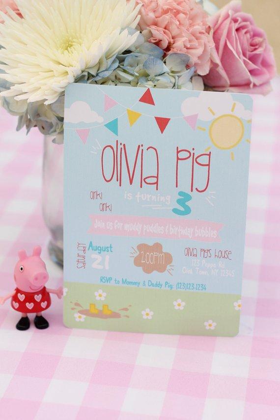 Peppa Pig Birthday Invitations