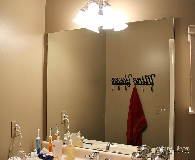 How To Frame A Builder Grade Bathroom Mirror Ideas Diy Home Improvement Woodworking Projects