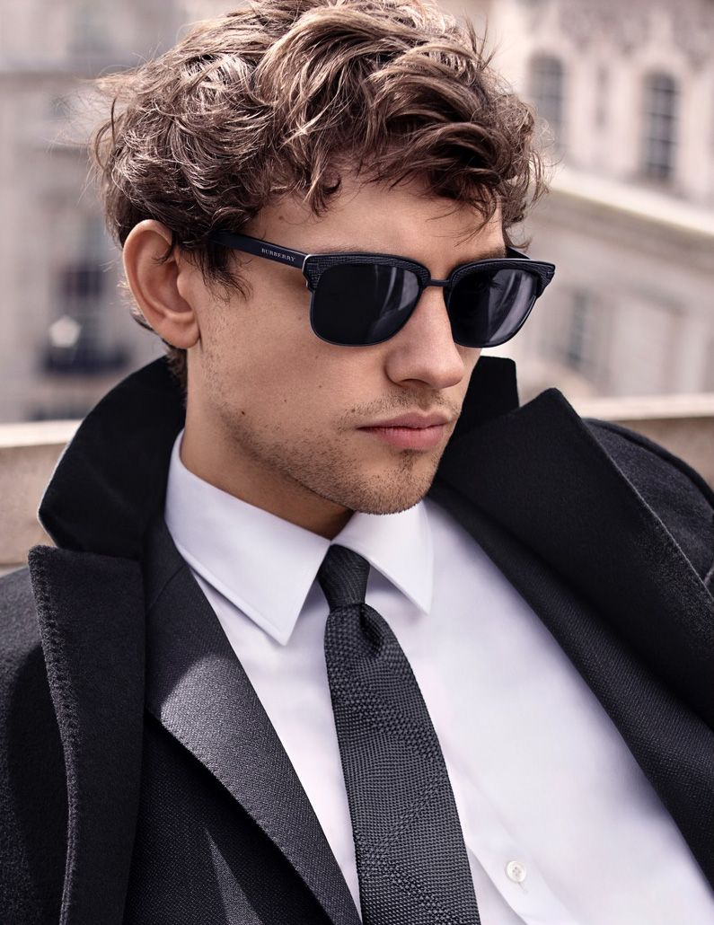 ec16635af4 Actor and musician Josh Whitehouse fronts the Eyewear campaign of  Mr.Burberry shot by Greg Harris. The collection is inspired by a man of  contrasts, ...