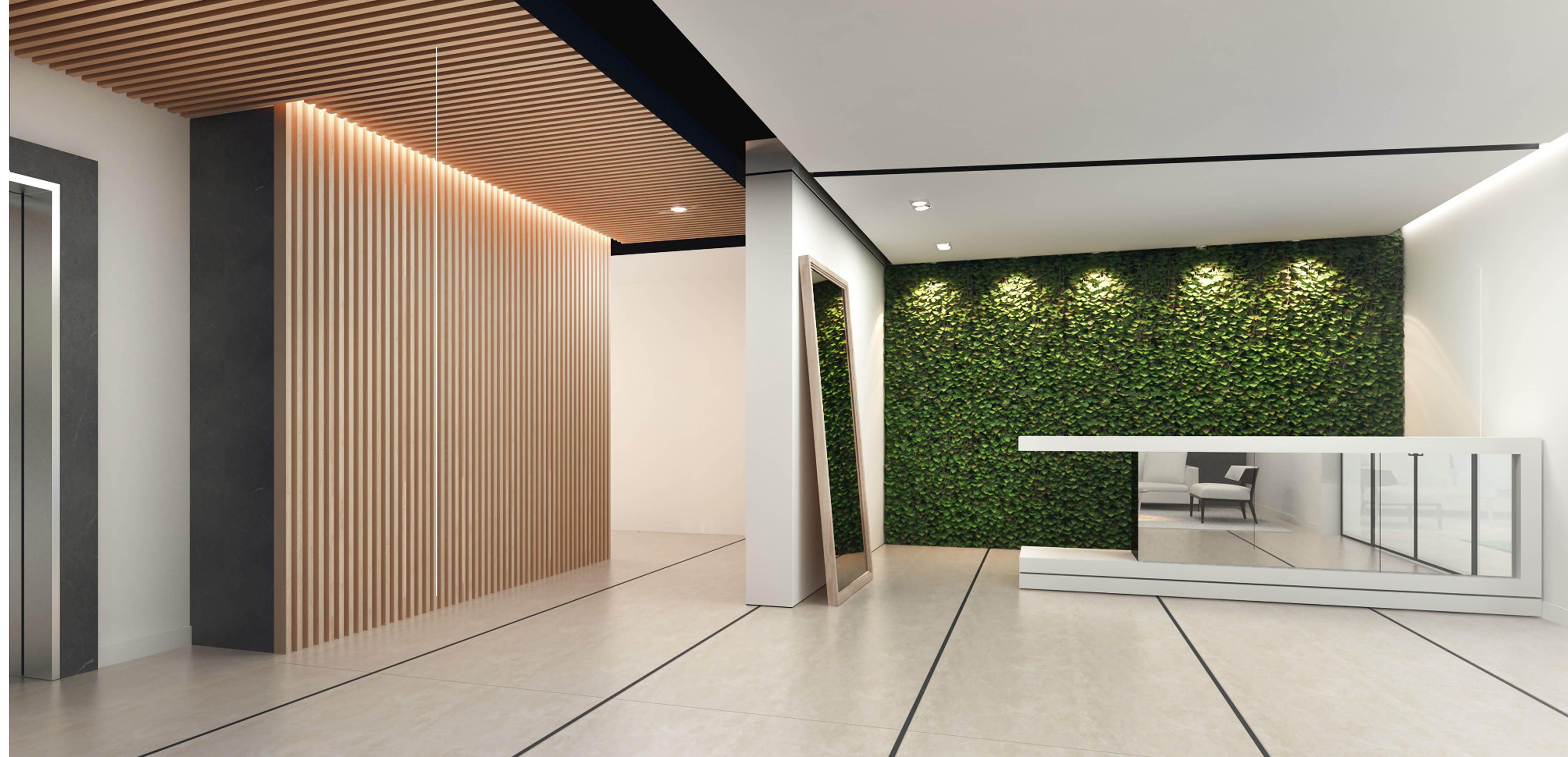 Contemporary Apartment Lobby Design Designed By Swiss Bureau Interior Llc