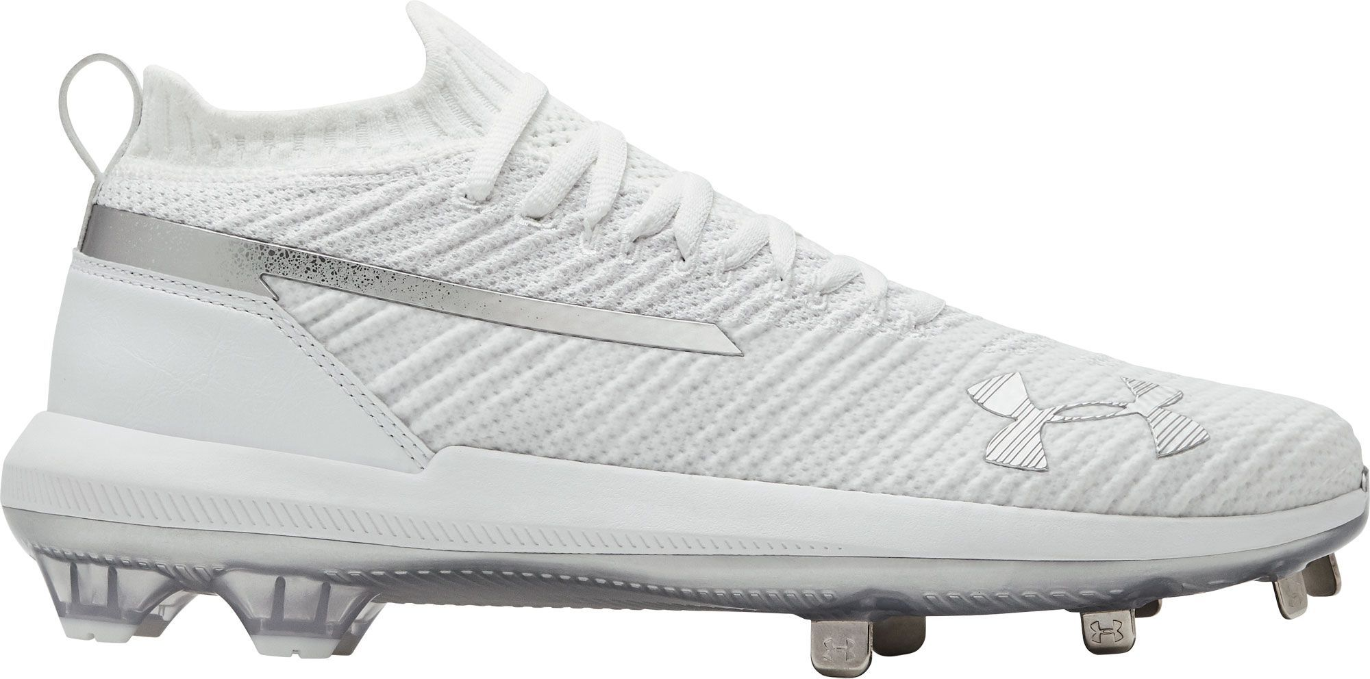 sports shoes b6c64 efded Under Armour Mens Harper 3 Metal Baseball Cleats, Size 7.0, White