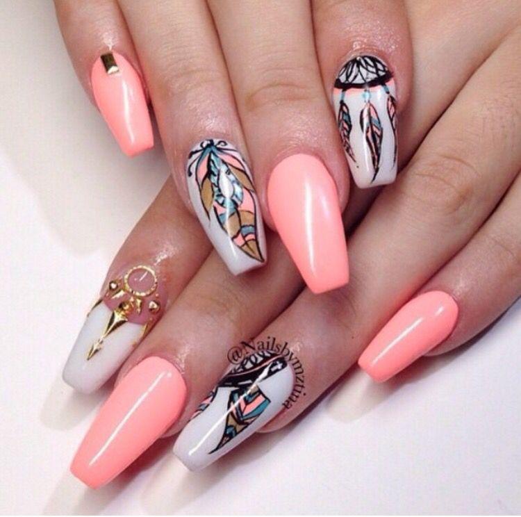 Idea by Raq Toncheva on nails Dream catcher nails