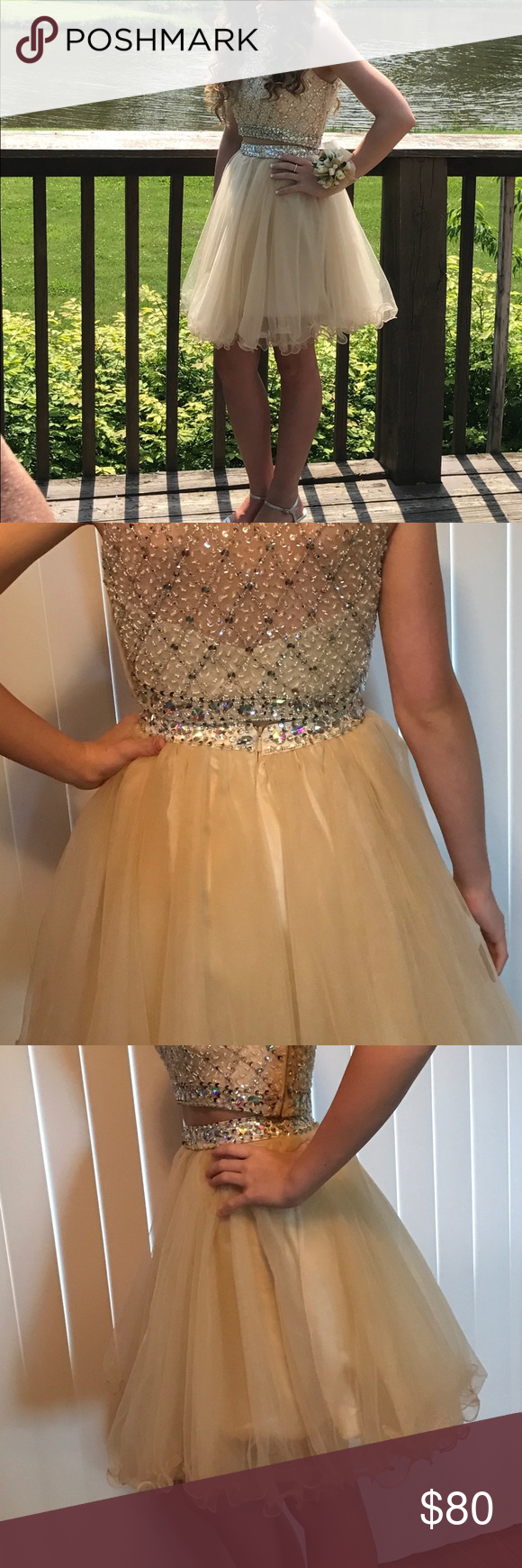 Champagne colored prom dress my posh picks pinterest champagne