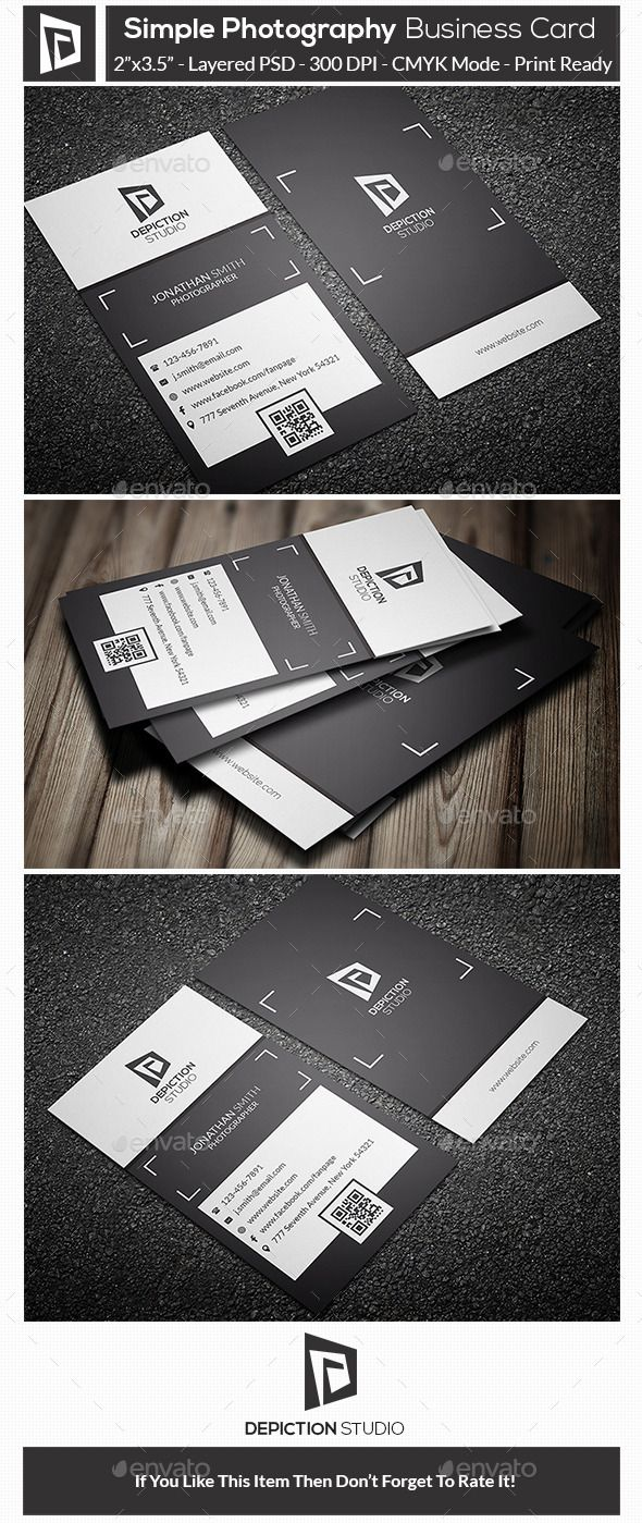 Simple Photography Business Card Template Design Download Http
