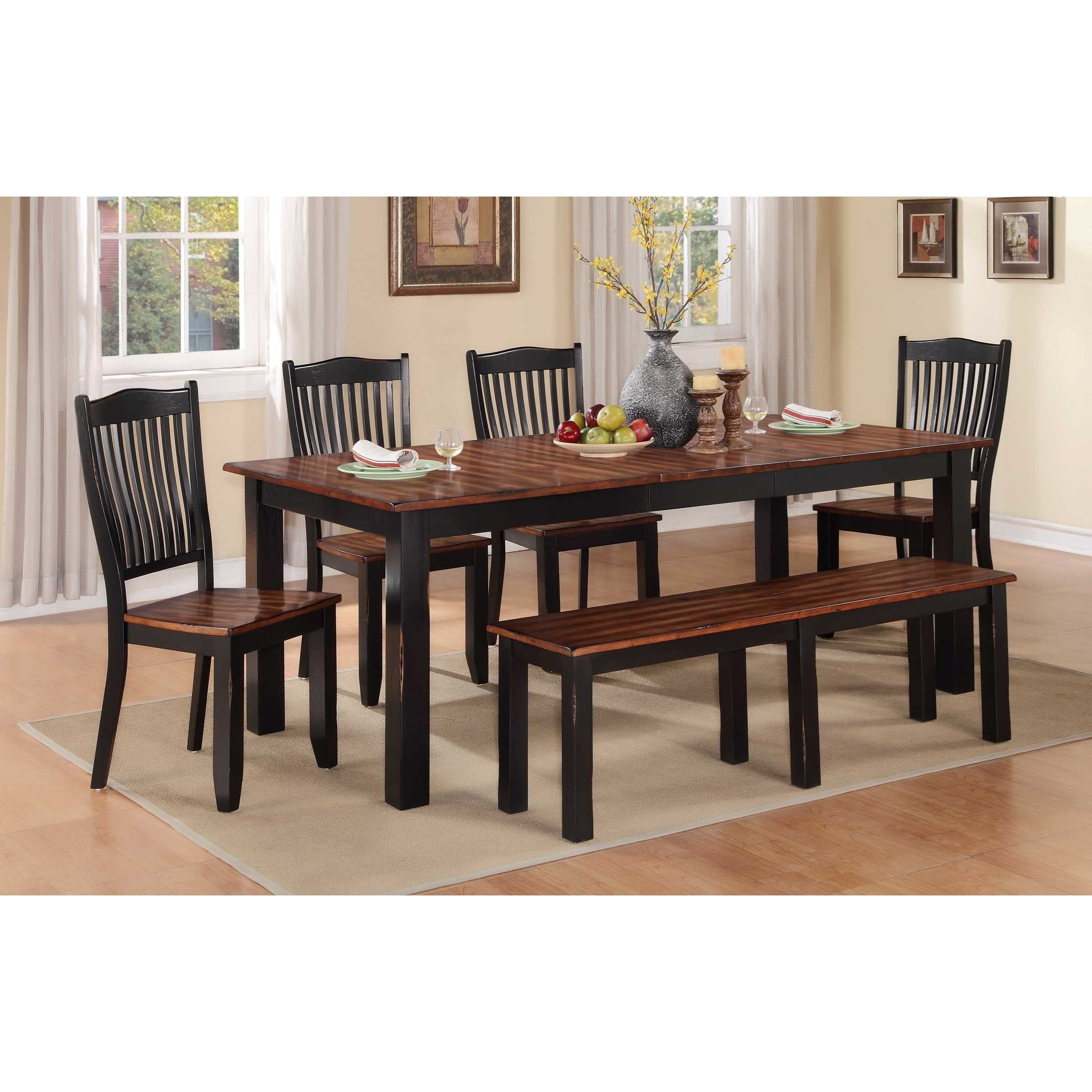 Carson 6 Piece Dining Set with Bench by Winners ly