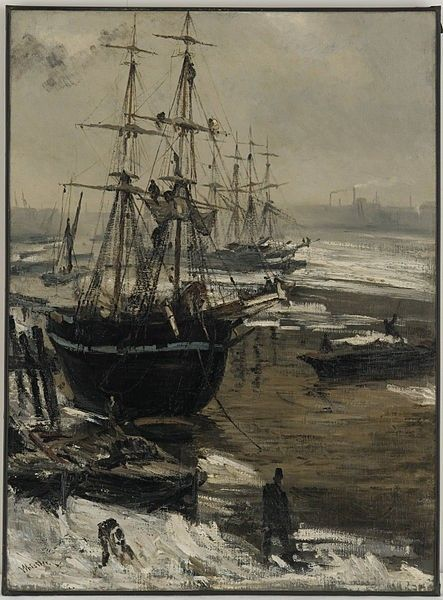 James McNeal Whistler: The Thames in Ice, 1860.