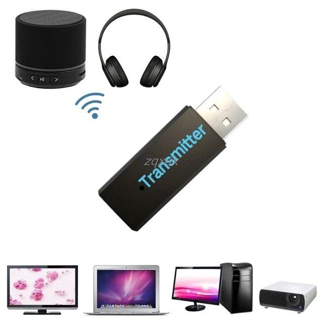 Speaker Headphone Bluetooth Adapter Music Audio USB Transmitter Wireless Dongle