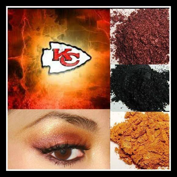 Kc Chiefs Kansas City Chiefs Game Face Younique Mineral Pigments