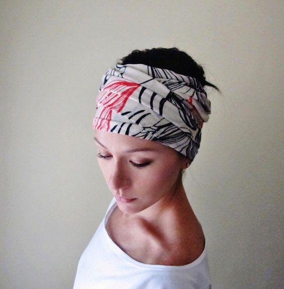 Soft Knit Grey Flower Motif Stretch Headband Head Wrap Band Hair Accessories