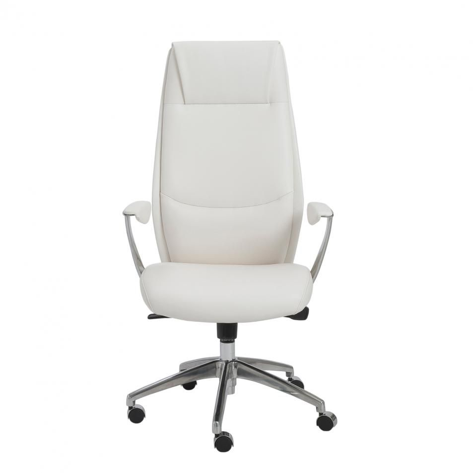 Euro Style Crosby High Back Office Chair In White