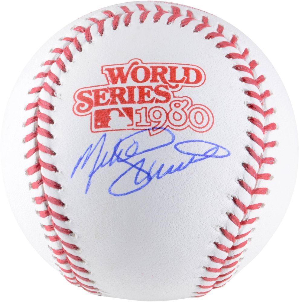 Mike Schmidt Philadelphia Phillies Signed 1980 World Series Logo Baseball Sportsmemorabilia Autograph Baseball World Series Philadelphia Phillies Phillies
