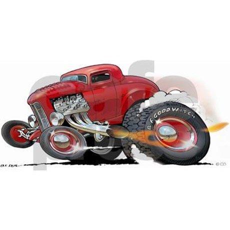 Dave Deal 50/'s Bel Air Nomad Hot Rod Cartoon T-Shirt #4154 Automotive Art