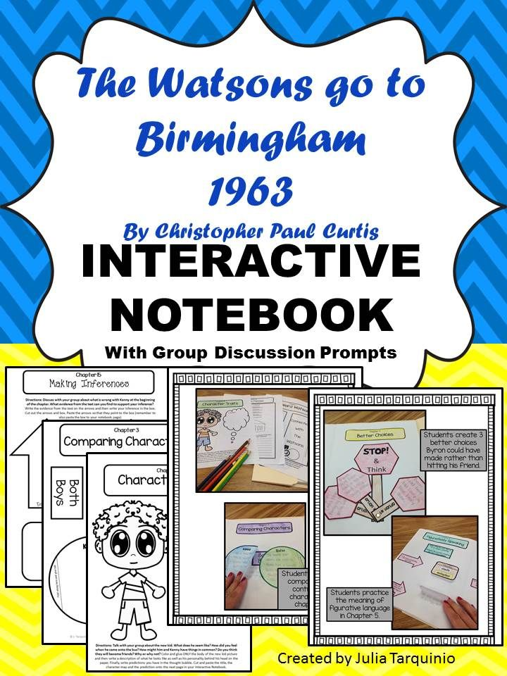 The Watsons Go To Birmingham Interactive Notebook N A I L S