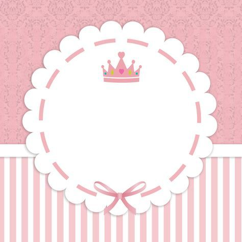 Pequeña Princesa Etiqueta Baby Etiqueta Bautizo Etiquetas Y
