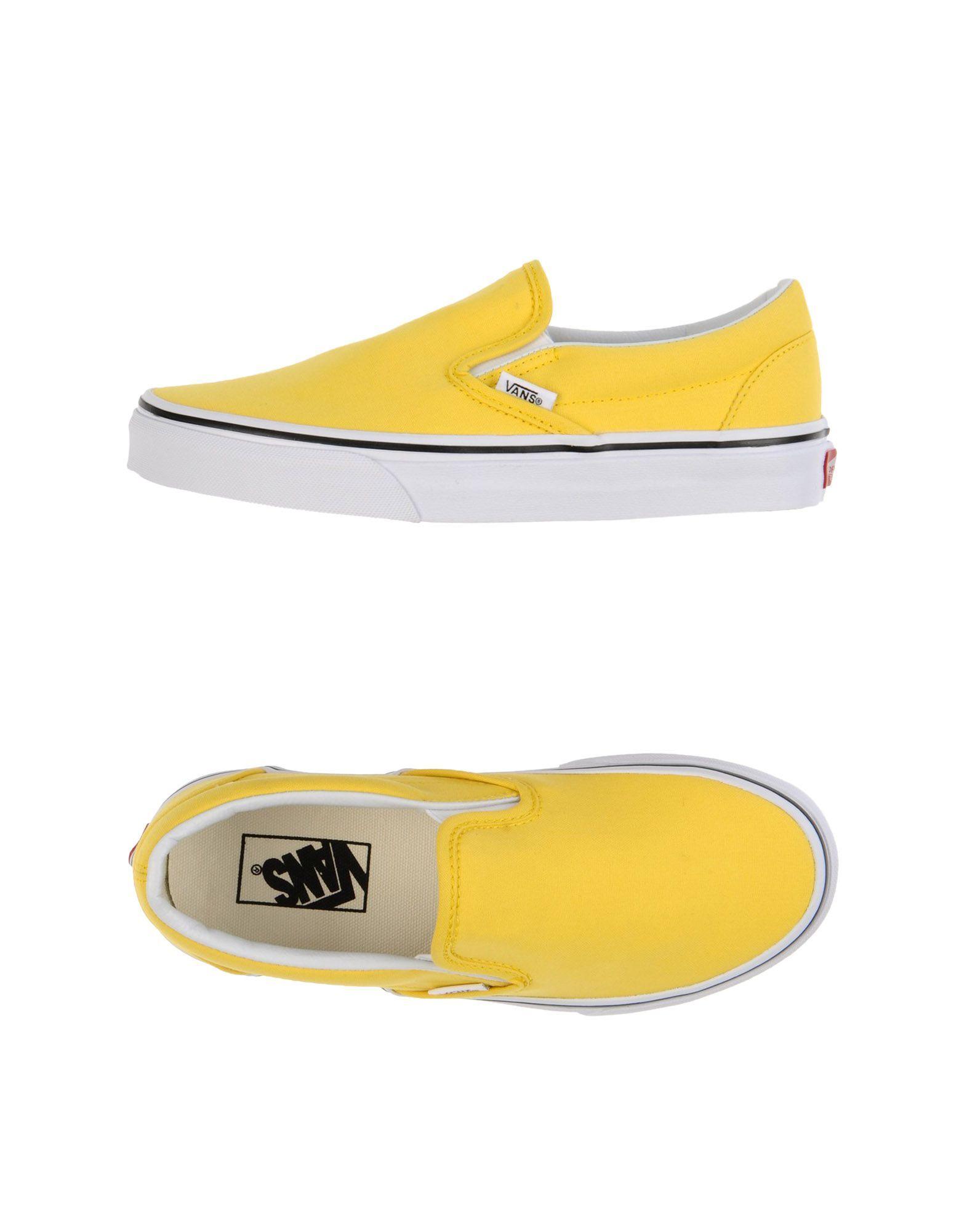 VANS U CLASSIC SLIP ON Sneakers Gelb Damen Schuhe