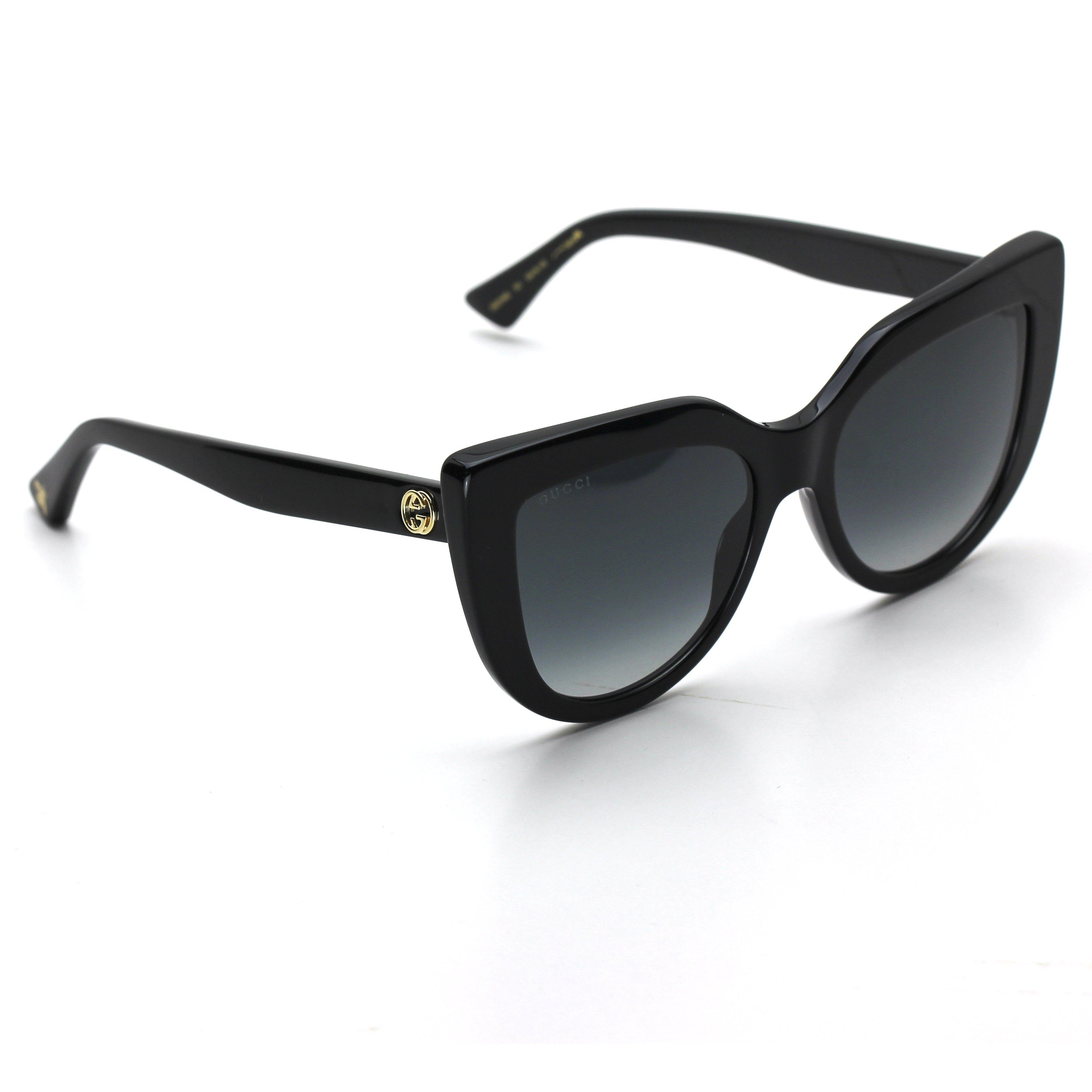 19152f03a Gucci 0164S Cat Eye Acetate Sunglasses Black Frame with Gray Gradient Lenses