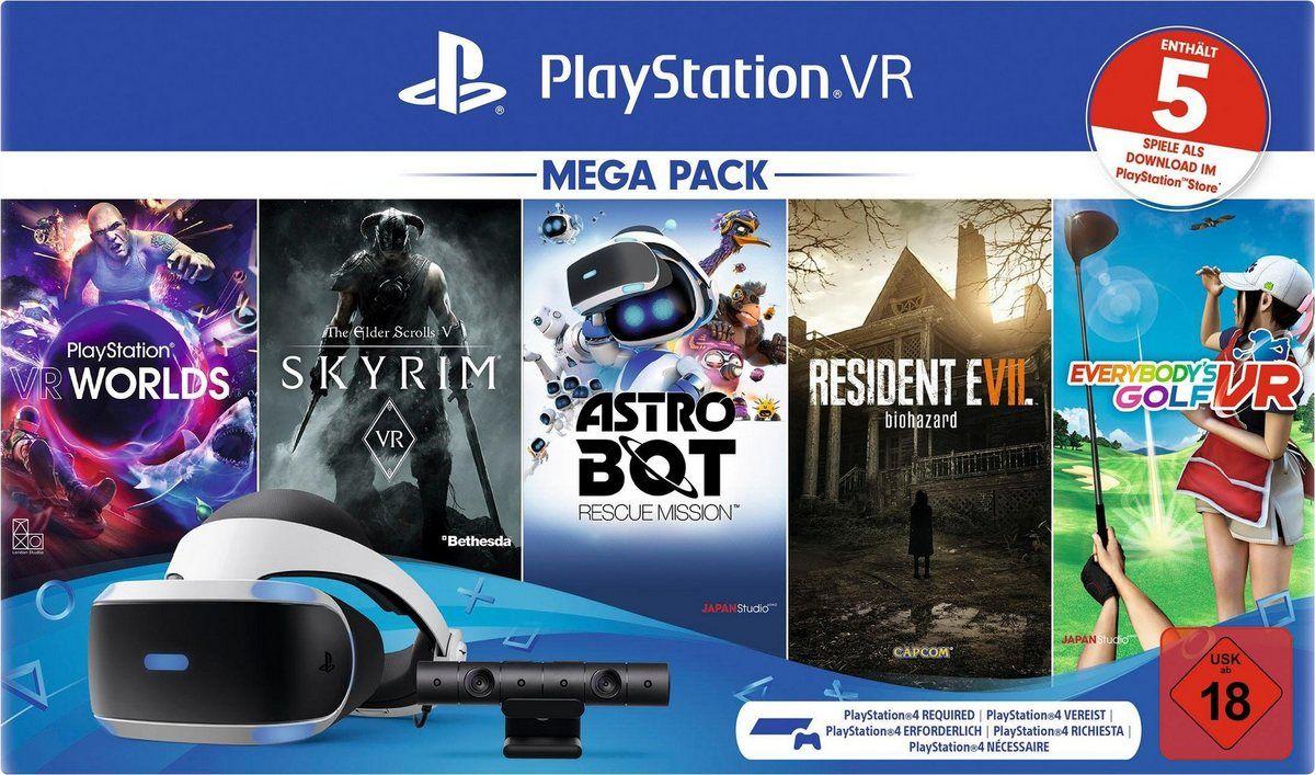 »VR Mega Pack 2« Virtual-Reality-Brille (OLED, inkl. Kamera und 5 Spiele (Voucher 2.0)