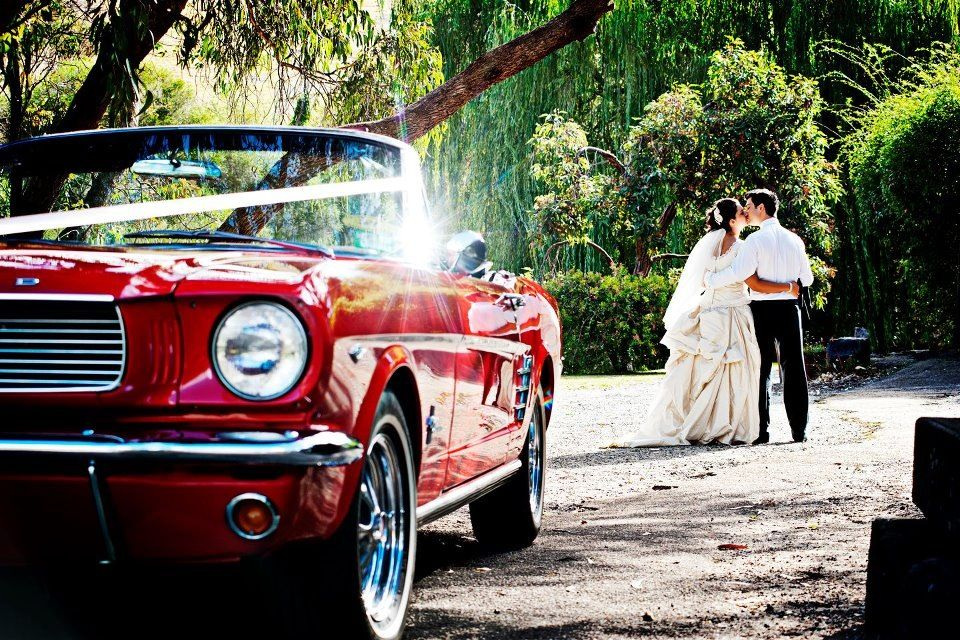 Wedding cars - Red Mustang By Con Tsioukis Alex Pavlou Photography
