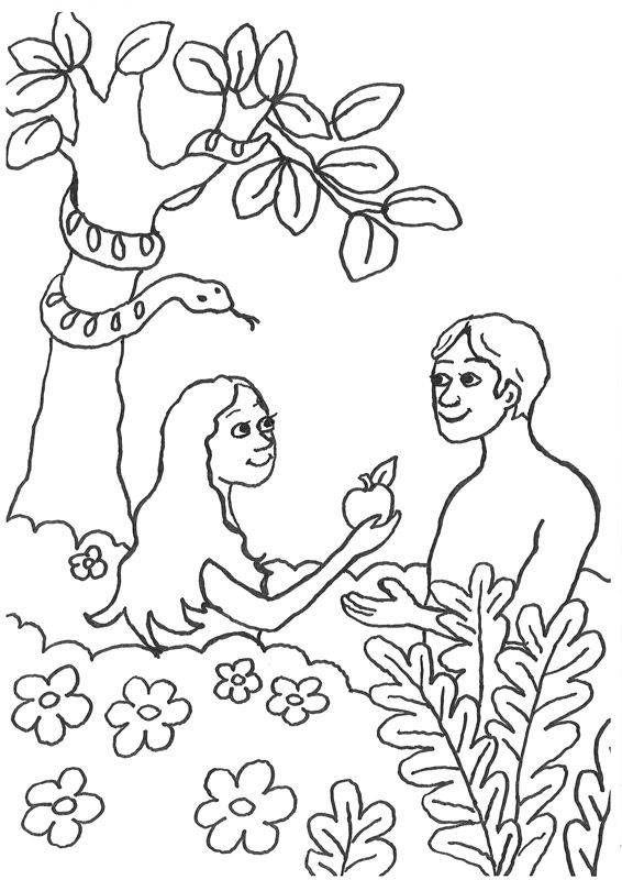 Adam und Eva: Sündenfall | Bibel-Ausmalbilder | Pinterest | Adam und ...
