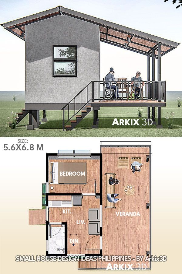 1 Bedroom Small House Design Small House Design Small House Tiny House Design