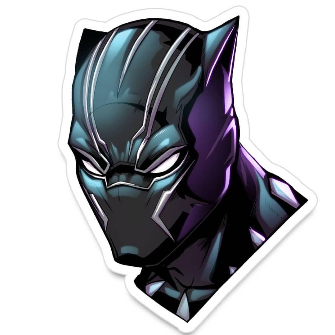 24 50 black panther wakanda forever blackpanther tchalla marvel marvelcomics comic comicart artist sticker portrait illustration