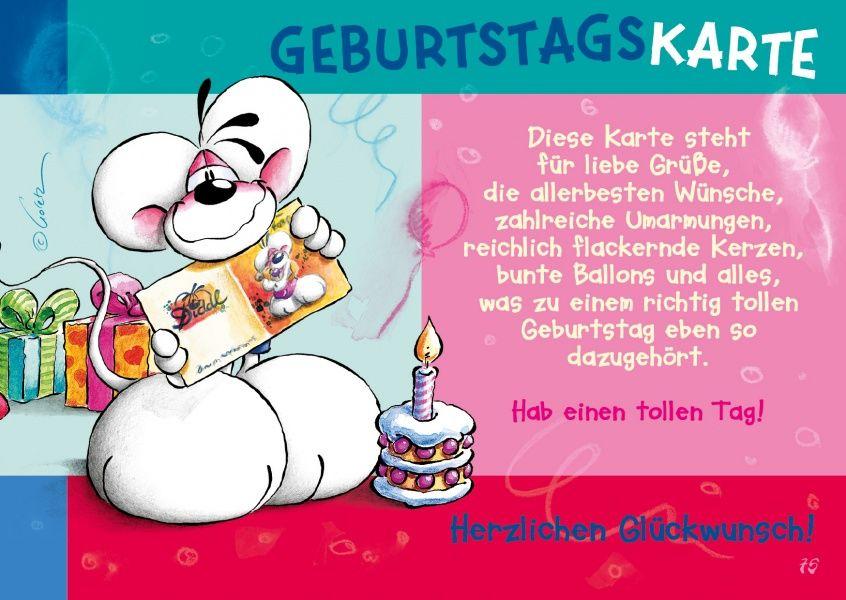 Geburtstagskarte Comic Cartoons Echte Postkarten Online