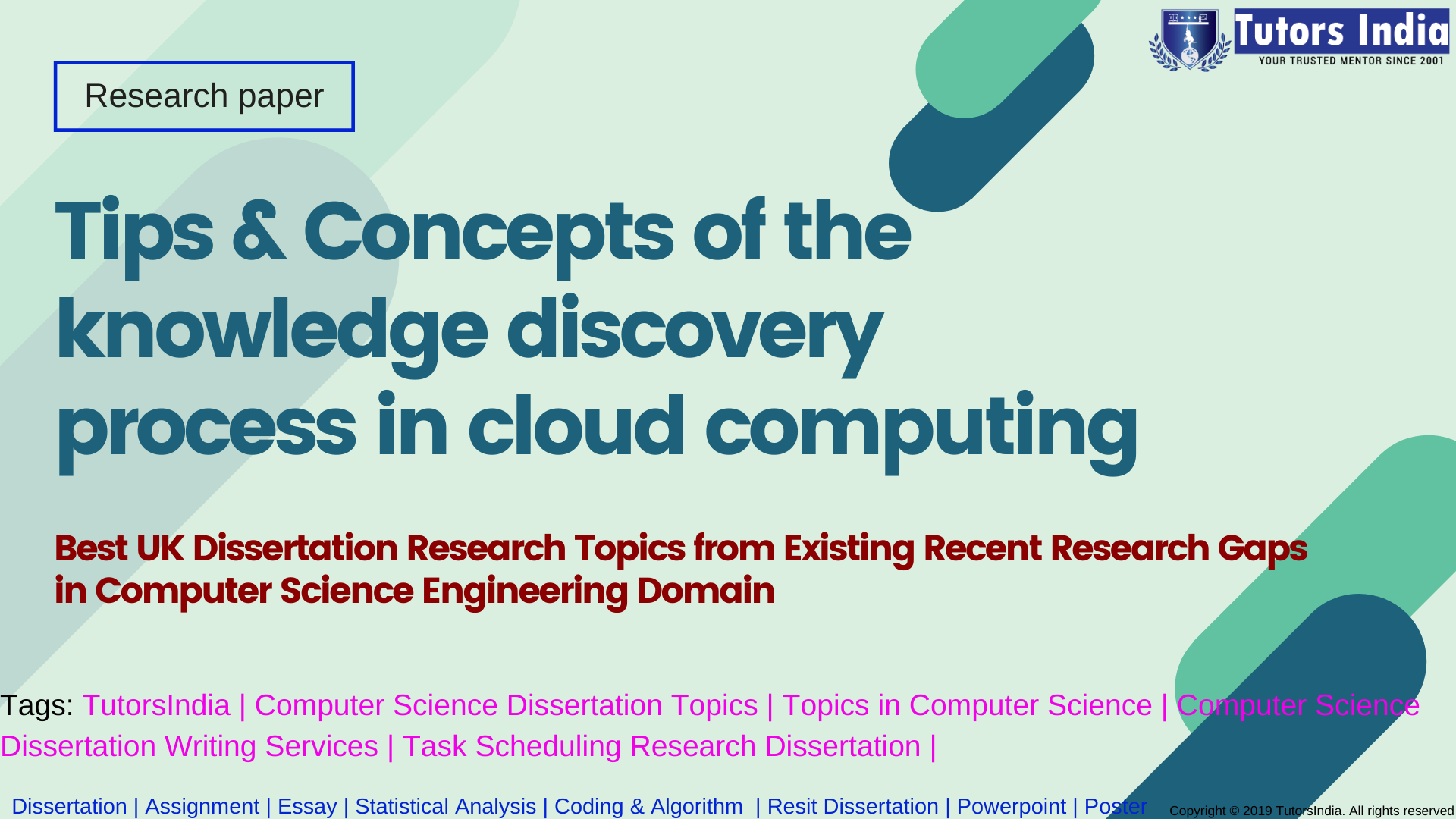 Tip And Concept Of The Knowledge Discovery Proces In Cloud Computing Tutorsindi 2020 Dissertation Writing Service Computer Science Engineering Topics