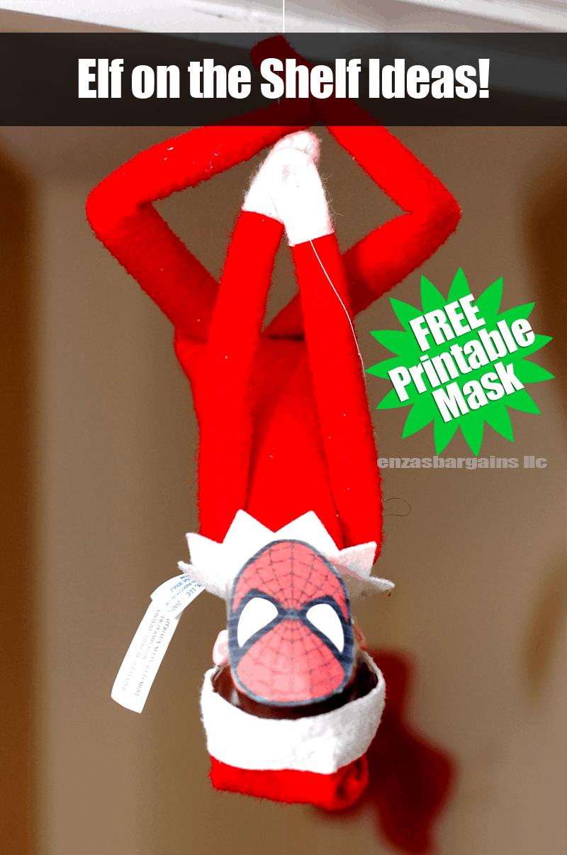 Elf on the Shelf Spider Man Mask: FREE Printable Mask