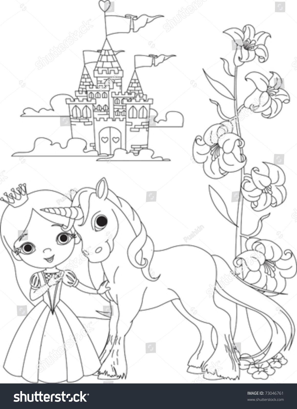 Princess Unicorn Coloring Page In 2020 Unicorn Coloring Pages Princess Coloring Pages Princess Coloring