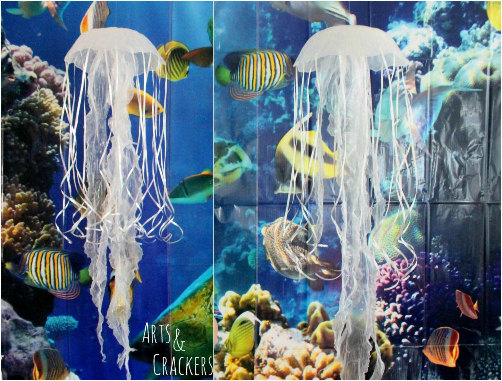 Diy Hanging Jellyfish Decoration Diy Jellyfish Decoration