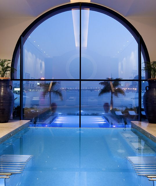 Indoor / outdoor pool w/ a view....breathtaking
