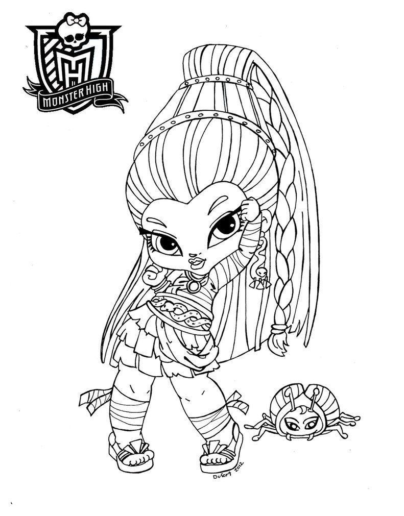 baby monster high coloring pages # 3