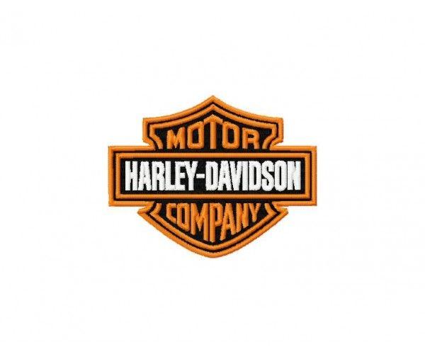 Harley Davidson logo machine embroidery design for instant