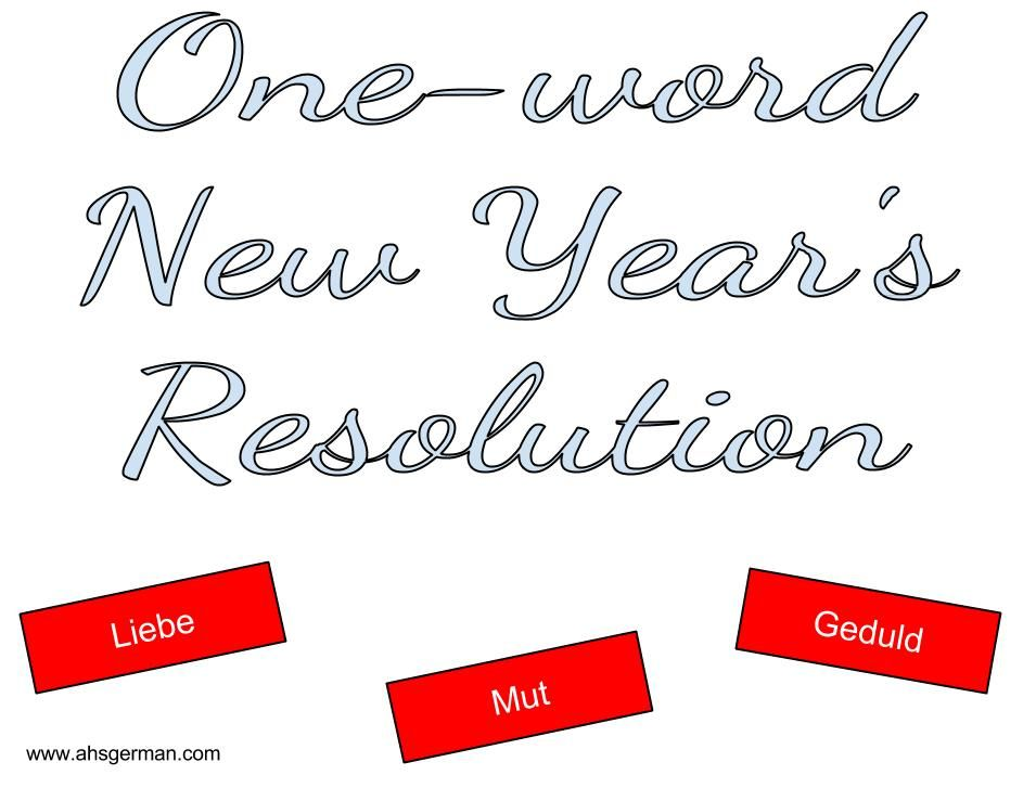 One Word New Year S Resolution Students Choose One Word As A Resolution Words Teaching Student