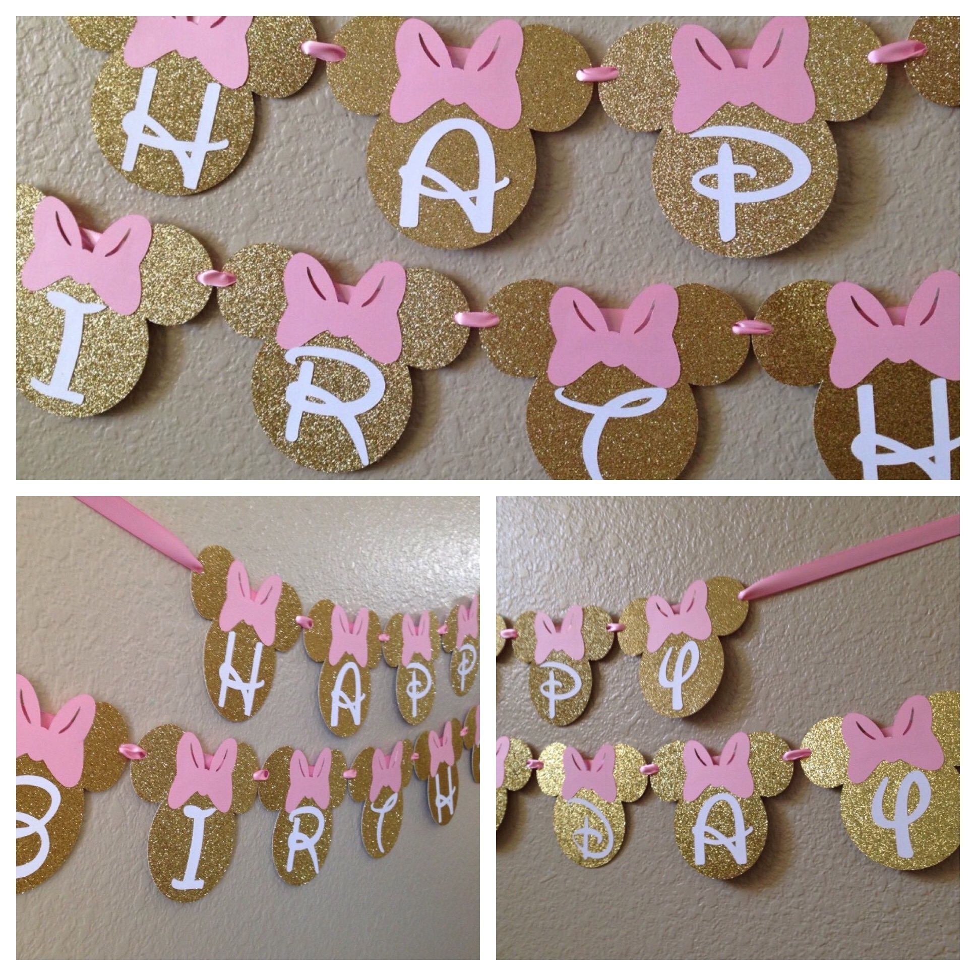 Minnie Mouse Birthday Banner Minnie Mouse Party Decorations Mickey