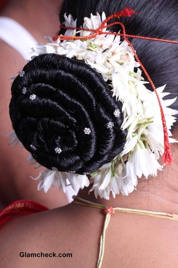 indian wedding hairstyle gallery%0A Traditional Gajra Hairstyles  Indian Bride