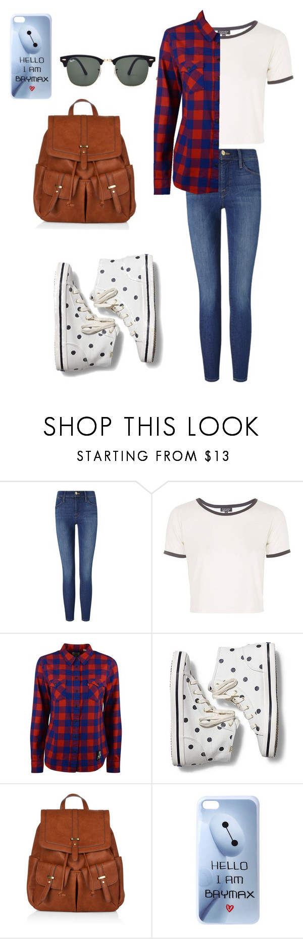 """""""Untitled #41"""" by gaby-lxve ❤ liked on Polyvore featuring Frame, Topshop, Levi's, Keds, Accessorize, Disney and Ray-Ban"""