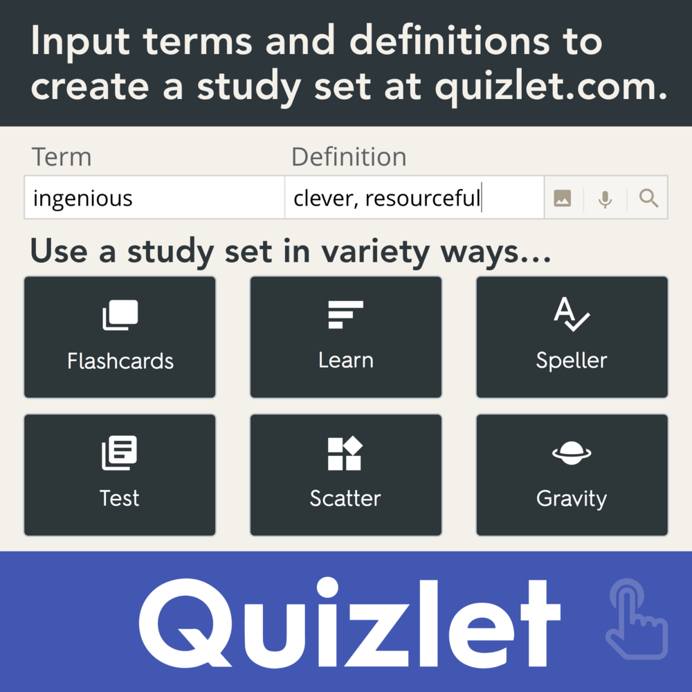 Assessment and study tool for students. I like quizlet
