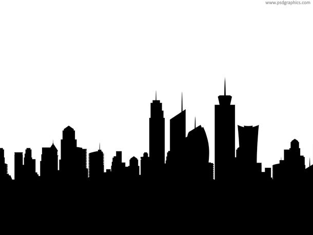 Skyline Silhouette Siluet Gambar Tim Gambar