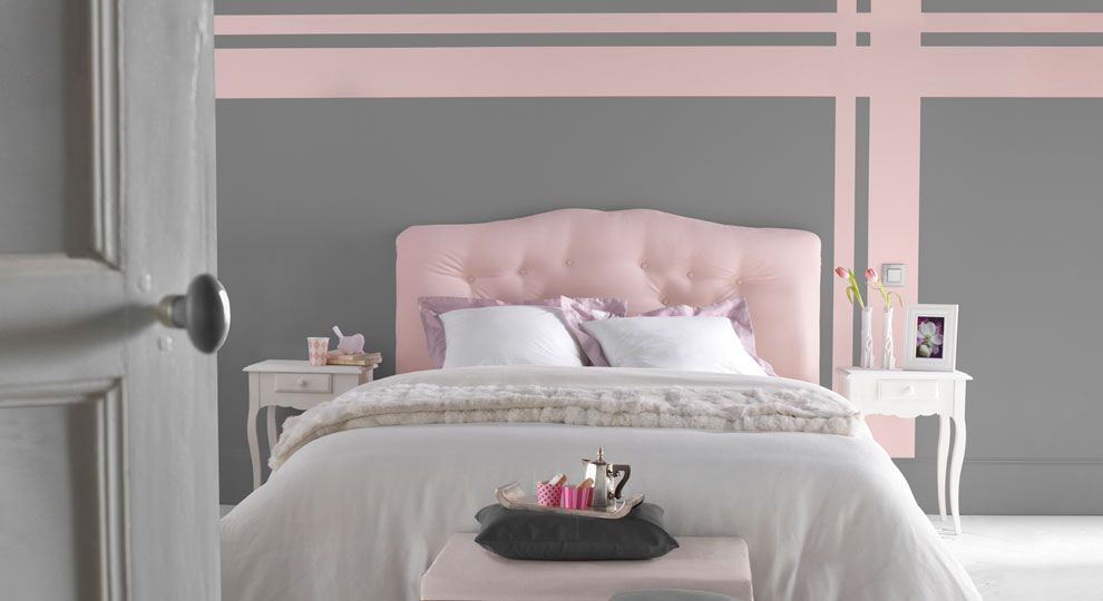 gris et rose un duo de charme un gris building pour la modernit un rose poudr pour la. Black Bedroom Furniture Sets. Home Design Ideas