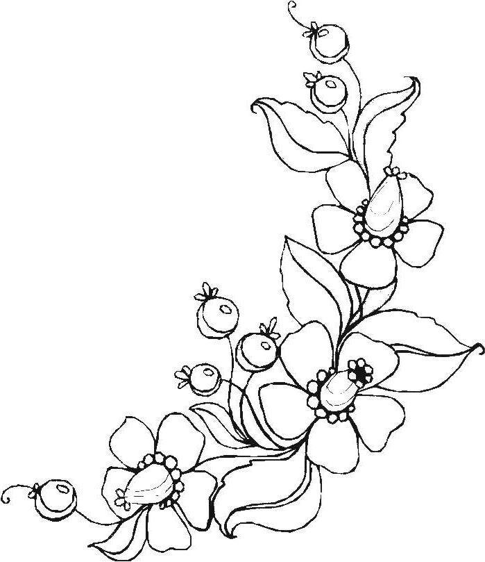 Ausmalbilder Blumen Ranken 01 | zeichnen | Pinterest | Ausmalbilder ...