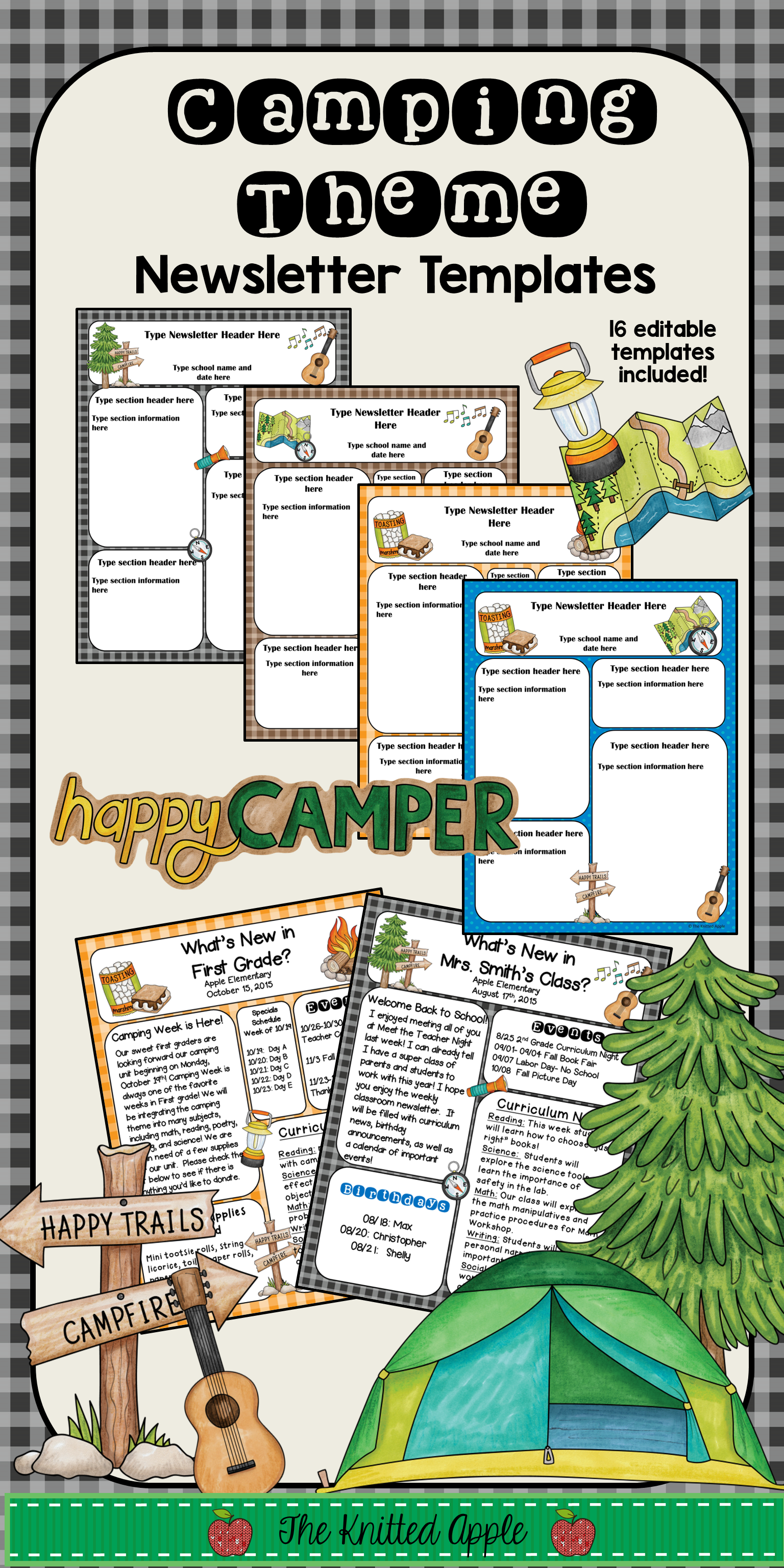 camping theme newsletter templates camping theme newsletter