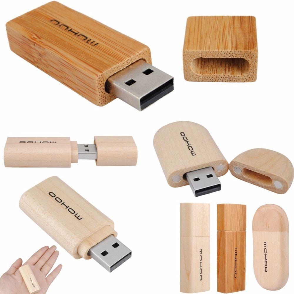 Mohoo 1 32gb Usb 2 0 Wooden Bamboo Memory Storage Pen Stick Flash