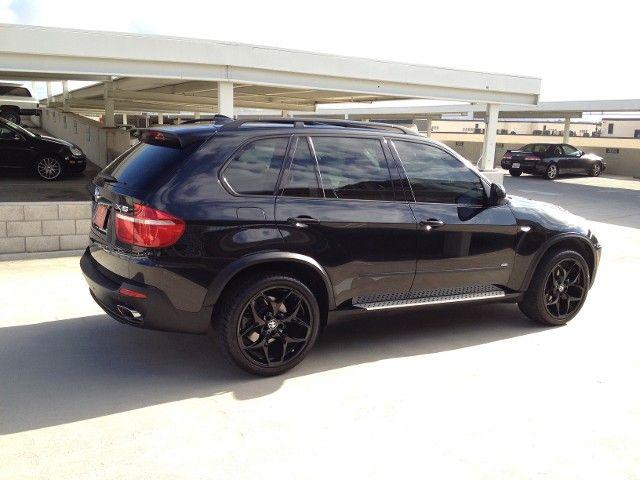 2008 Bmw X5 4 8i Blacked Out Bmw X5 Bmw Black Car