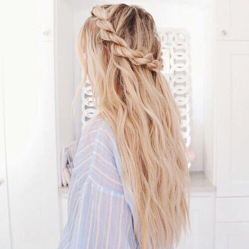 adorable beauty blonde braid