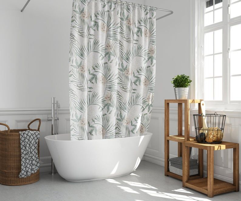 Shower Curtain Plant Shower Curtain Boho Shower Curtain Etsy In