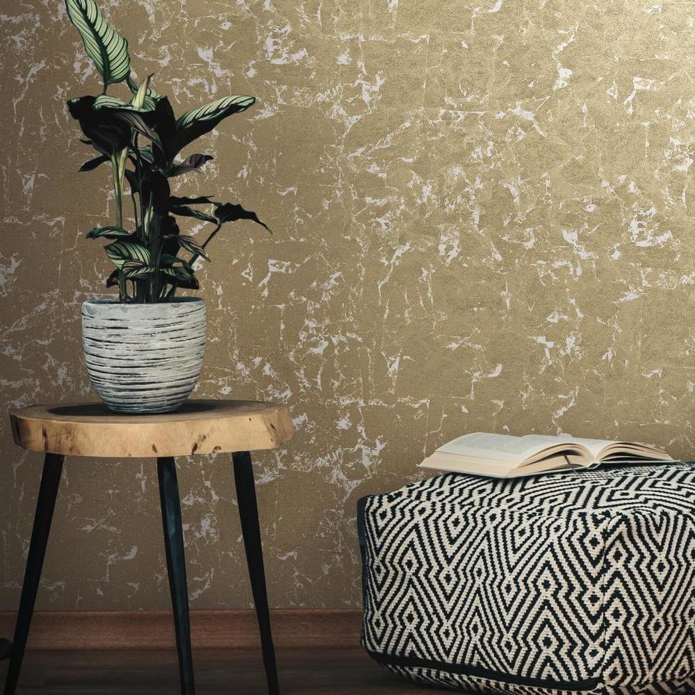 Metallic Leaf Peel And Stick Wallpaper In 2021 Gold Wallpaper Living Room Peel And Stick Wallpaper Gold Wallpaper Bedroom